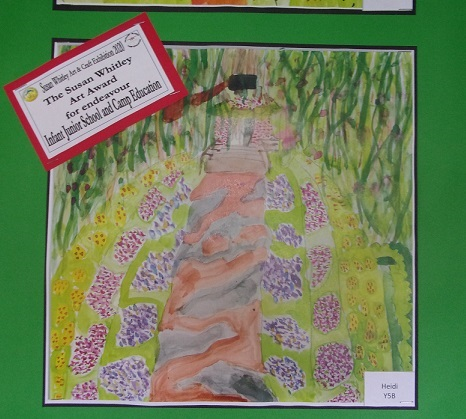 The Susan Whitley Art  Endeavour Award is Awarded to Heidi in Year 5